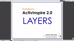 Video tutorial about layers in ActivInspire.