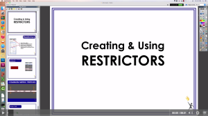 A video tutorial about creating and using Restrictors in ActivInspire.
