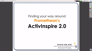 Video Tutorial on Getting Started with ActivInspire and Customizing Your Experience