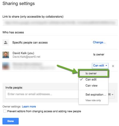 Google Sharing